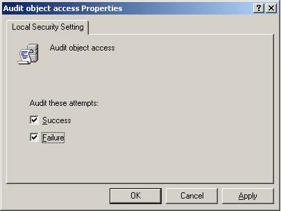 Enabling Object Access Auditing