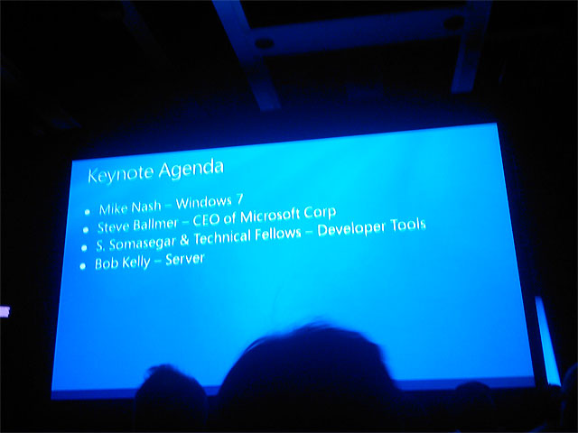 Keynote agenda