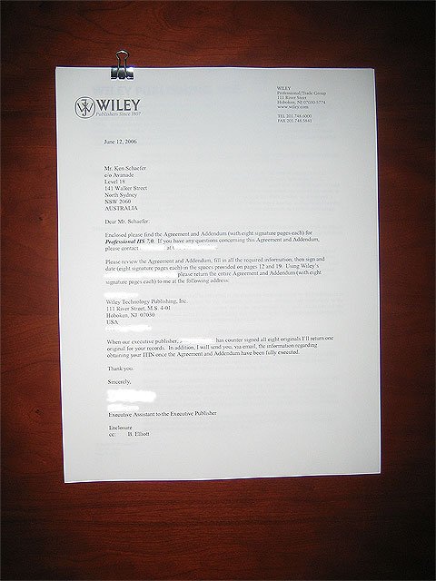 IIS 7 contract from Wiley/Wrox