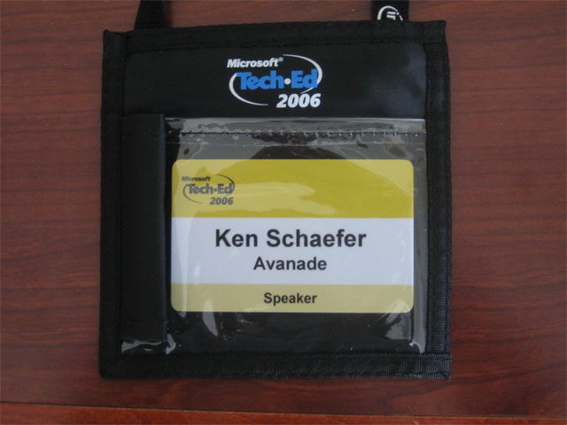 Ken's Tech.Ed 2006 Badge