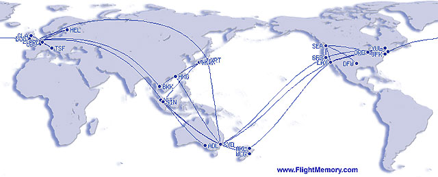 My Flight Memory map Mar 2009