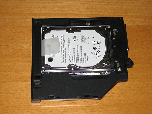 The new disk in a second bay